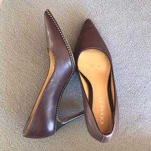 🌵Coach maroon heels
